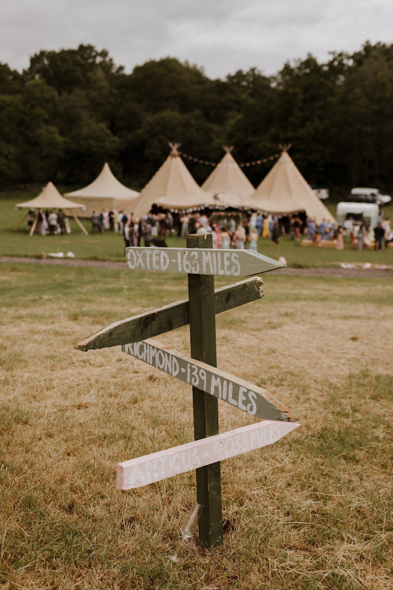 wedding signs with tipis