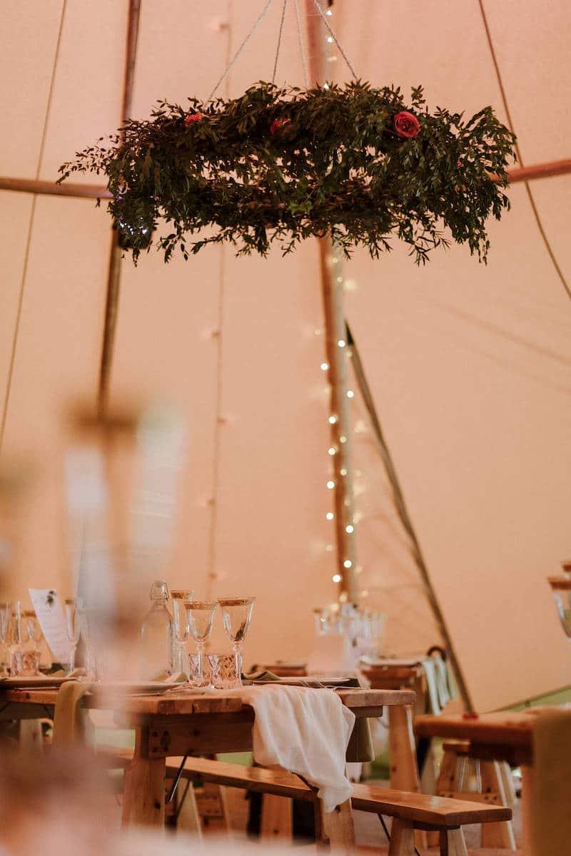 hanging floral hoop