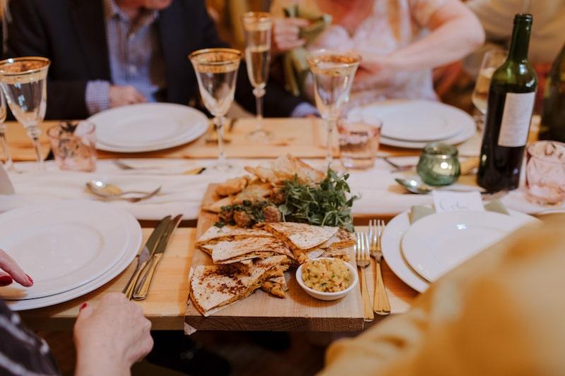 Plant Based vegan wedding food served on rustic platers