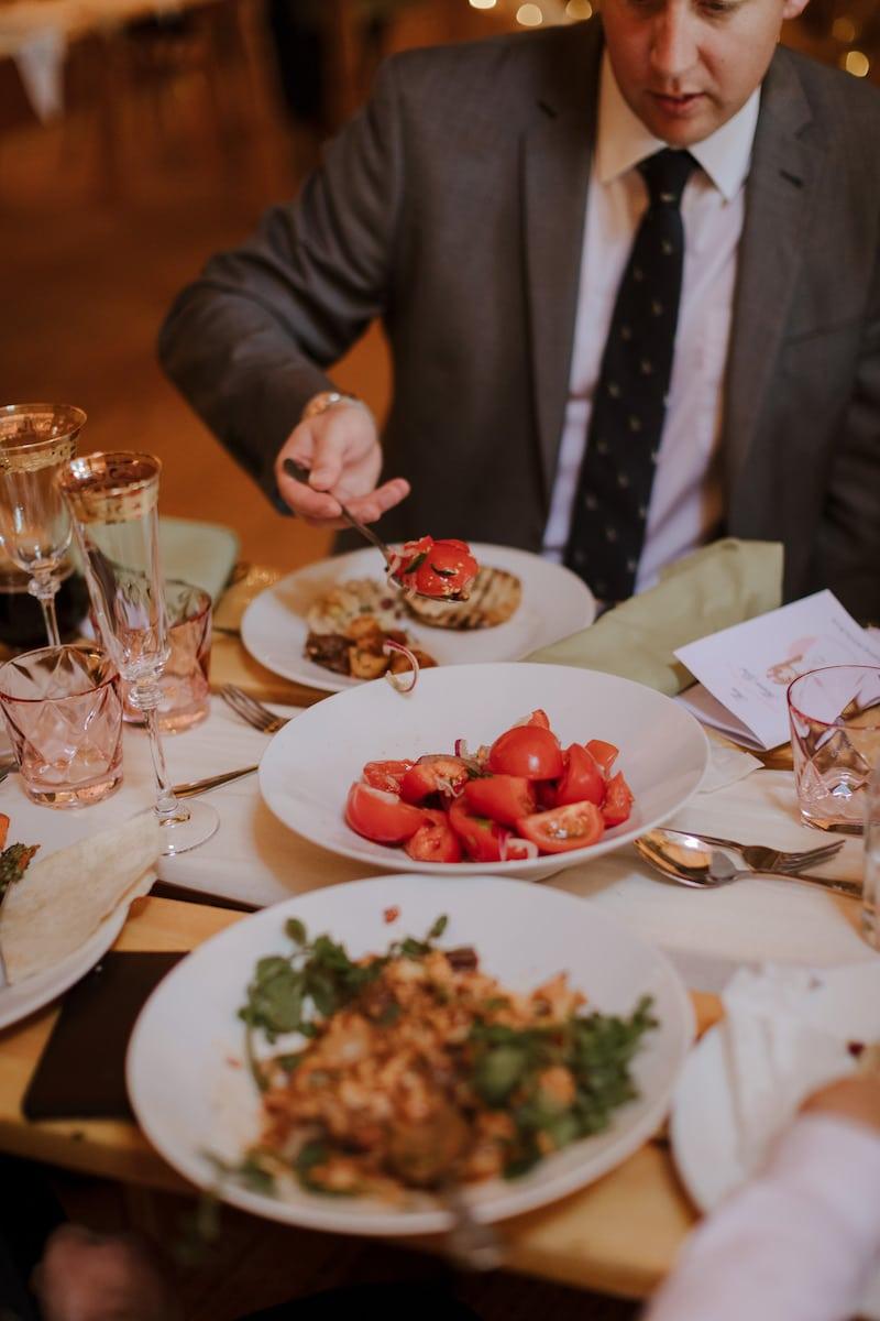 Plant Based vegan wedding food served in sharing bowls