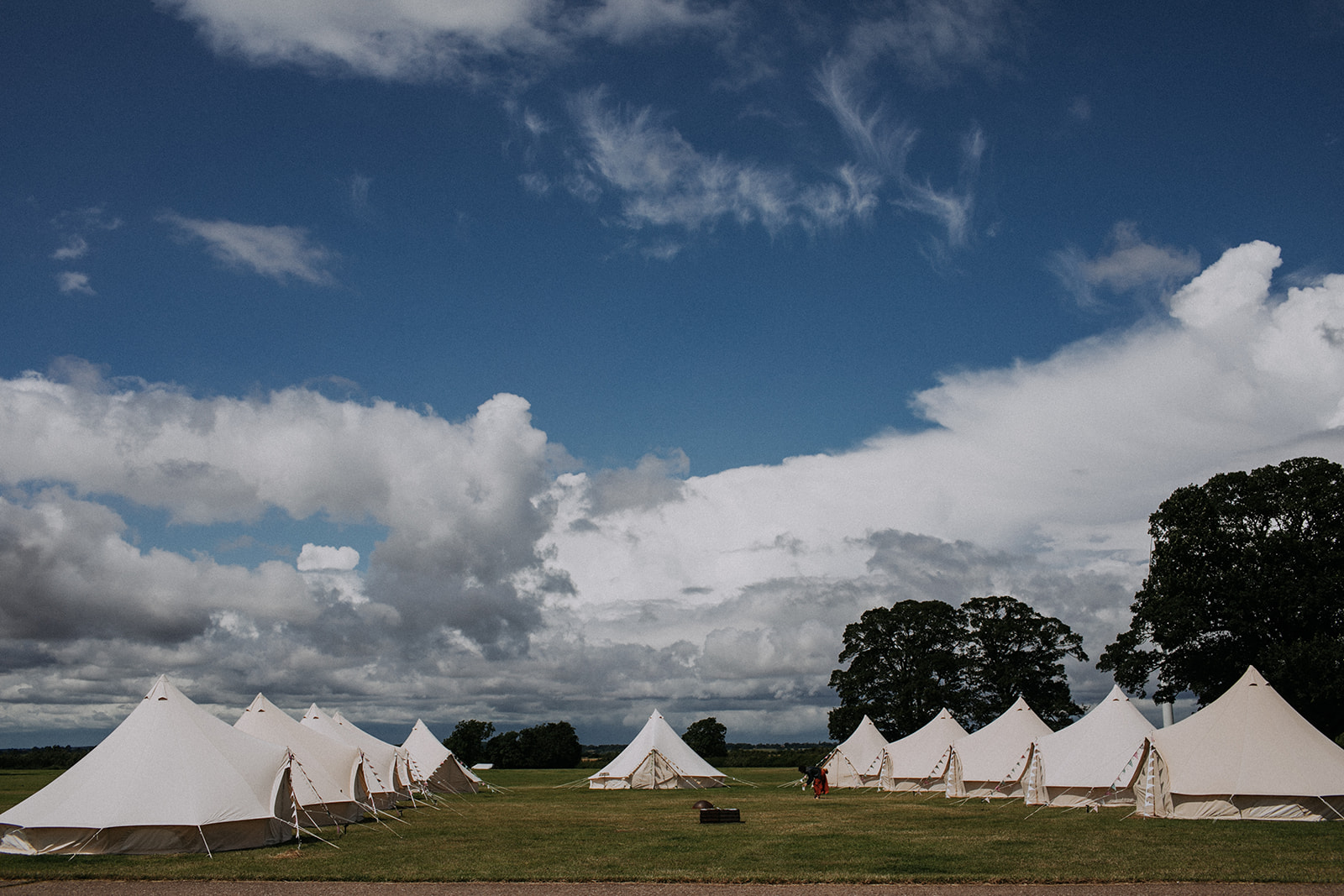 Glamping Bell Tents at Cattows Farm Wedding