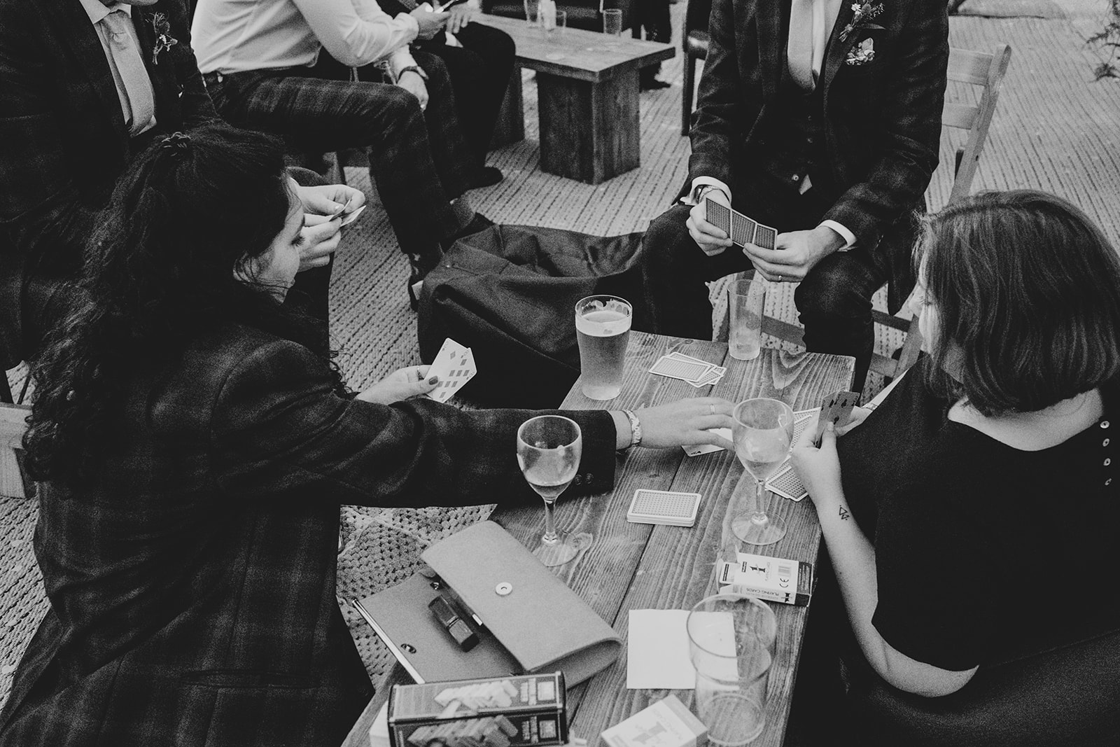 Guests playing a round of cards