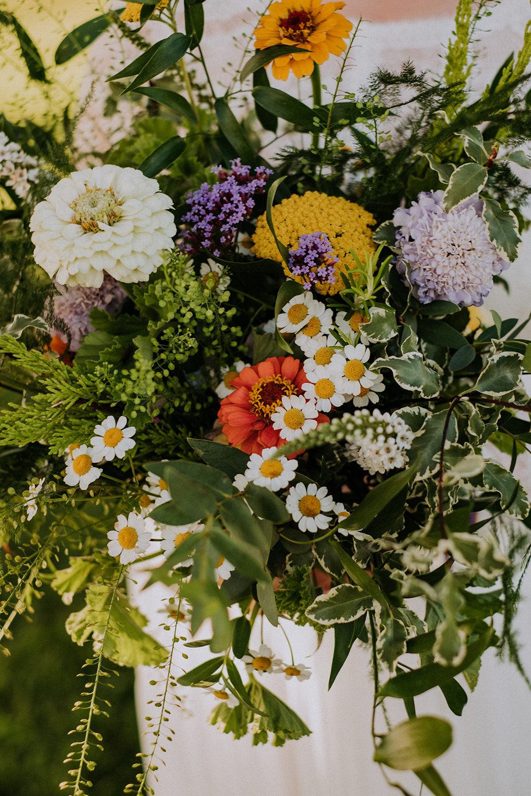 summer flowers bouquet - cattows farm wedding with sami tipi