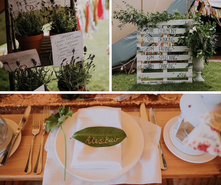 DIY Wedding Styling on a budget for a tipi wedding