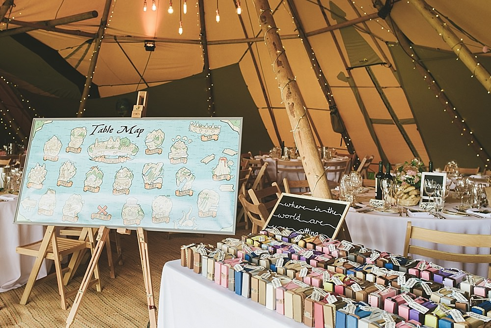 Tavel Themed tipi wedding styling for tipi wedding in Hickling, Leicestershire