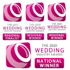 Three-time Regional Winner - Wedding Industry Awards 2017/2018/2020