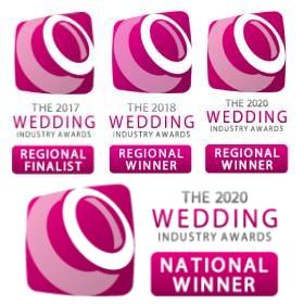 Three-time Regional Winner - Wedding Industry Awards 2017/2018/2020
