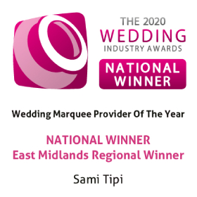 National Marquee Supplier Of The Year Winner - The 2019 Bridebook Wedding Awards