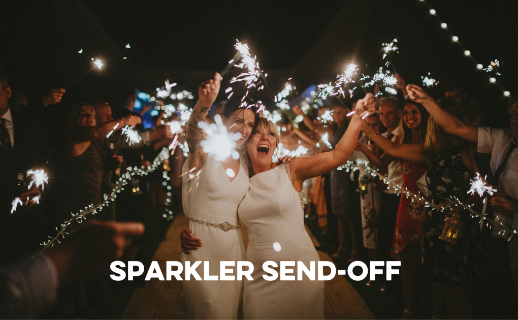 How to create a sparkler send-off