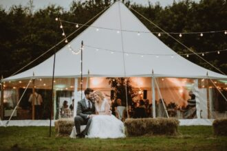 One pole sailcloth tent marquee wedding
