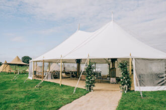 two pole sailcloth tent marquee wedding