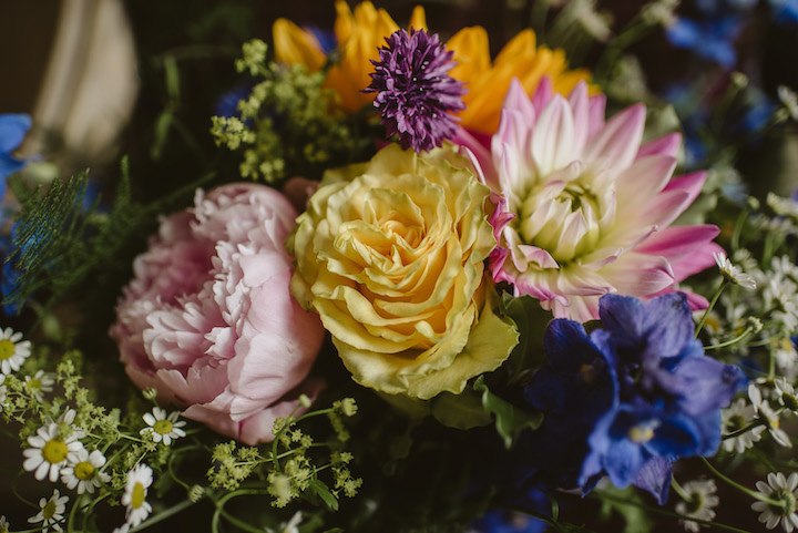 Colourful tipi wedding