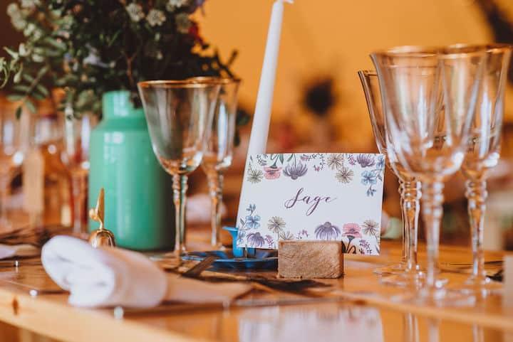 Bright Spring Tipi Wedding