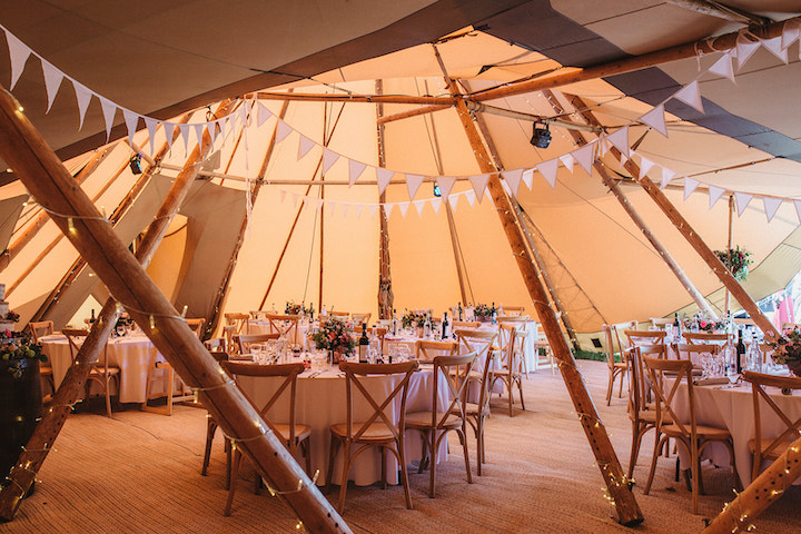 Four giant hat tipi interior layout