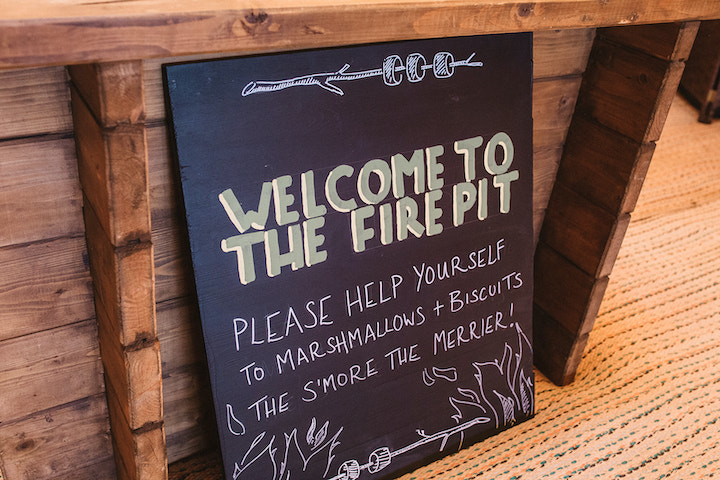 welcome to the fire pit sign