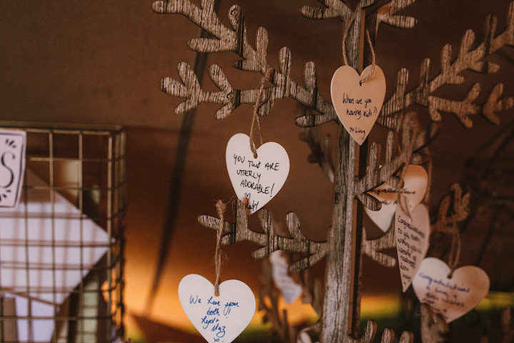 wooden tree guest book