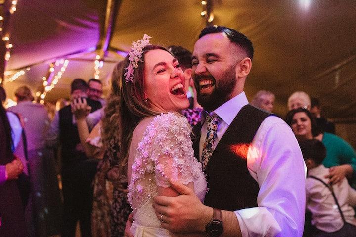 happy couple enjoying the party