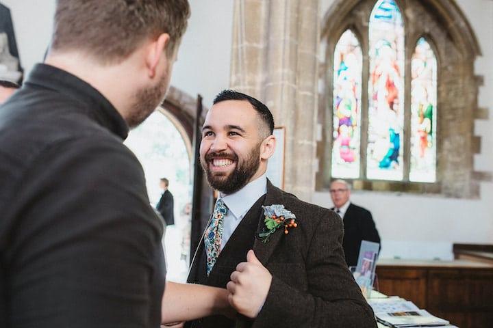 Smiley groom