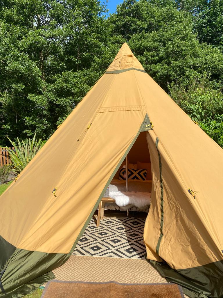 Little Eaton Derbyshire Garden Glamping Tent Hire