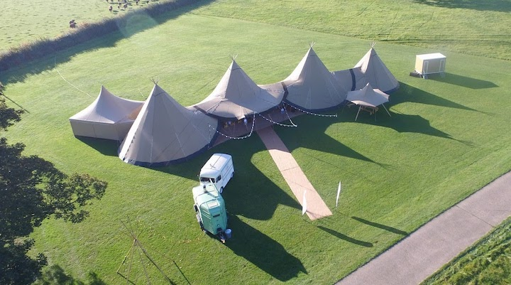 How Many Tipis Do I need for a guest list of 150 daytime and 150 evening