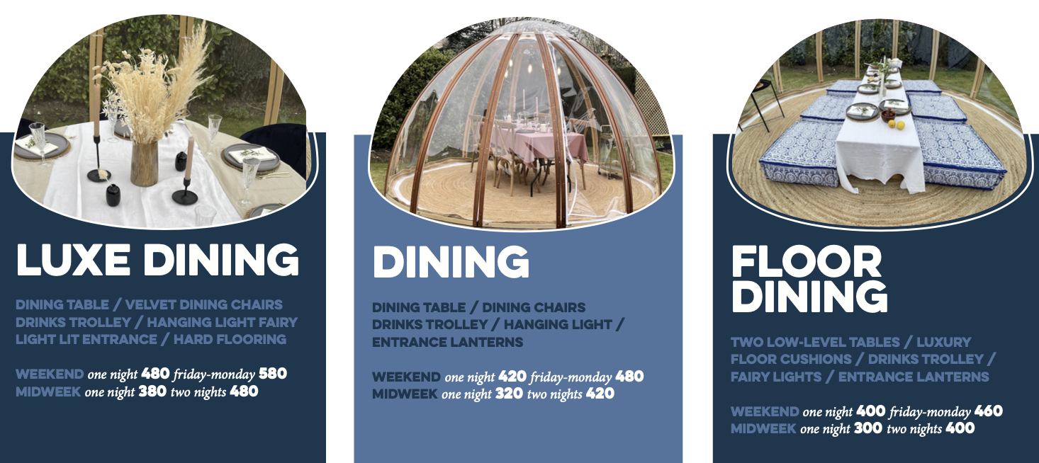 Dining Dome Packages