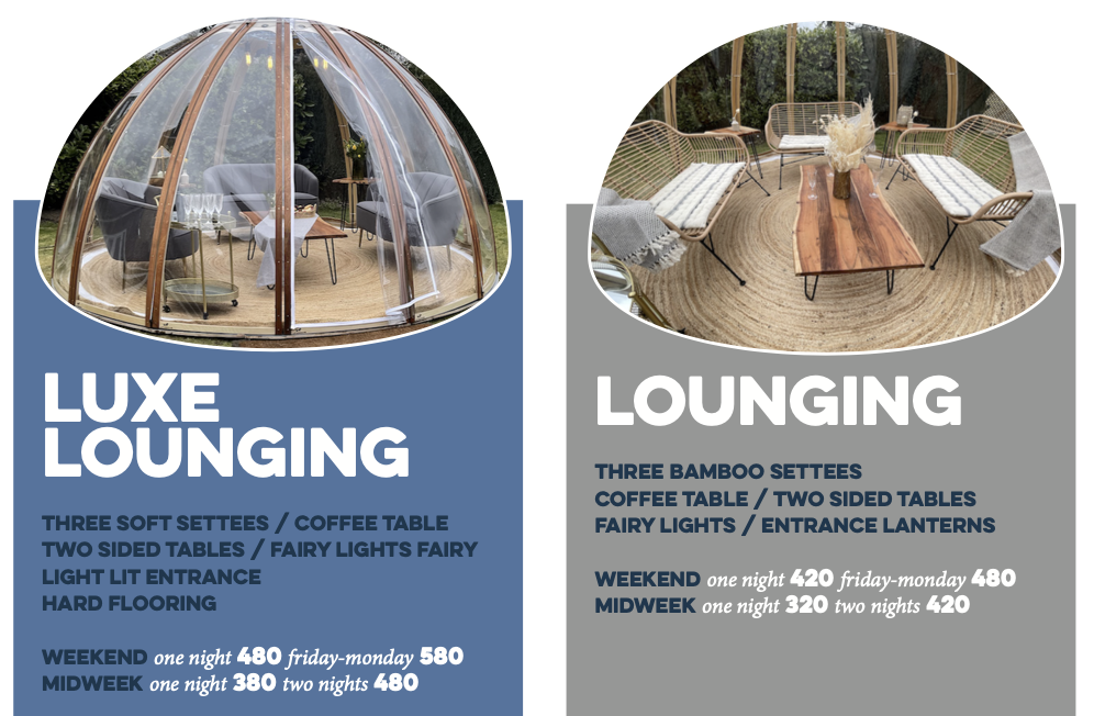 Lounging Domes Packages