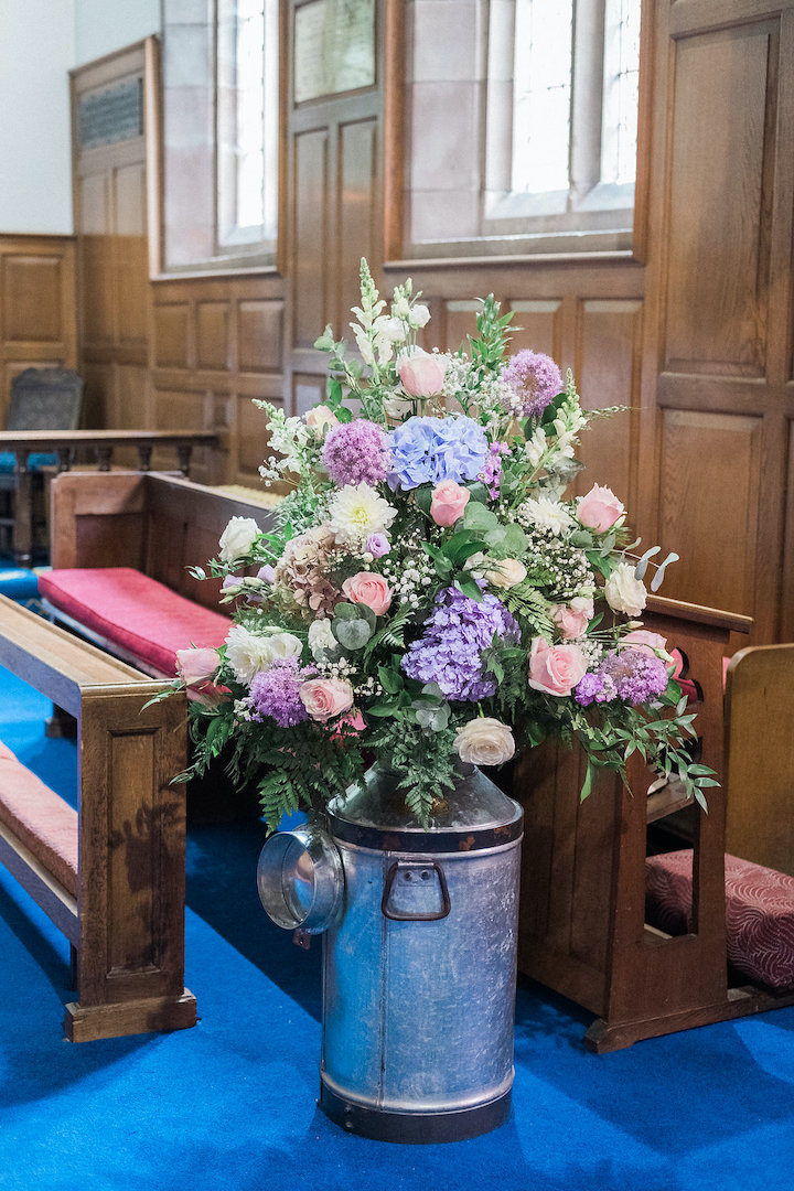 church ceremony flowers