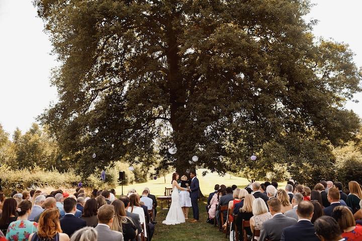 Bawdon Lodge Farm Outdoor Ceremony