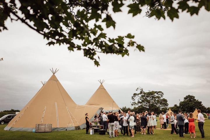 Tipi wedding at Cattows Farm