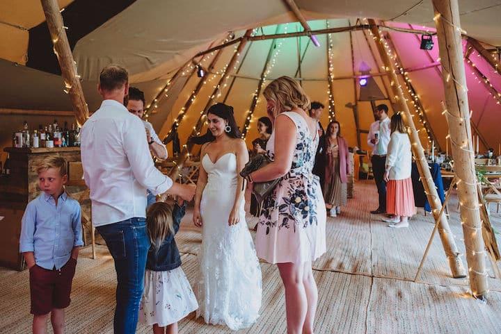 Two Giant Hat Wedding